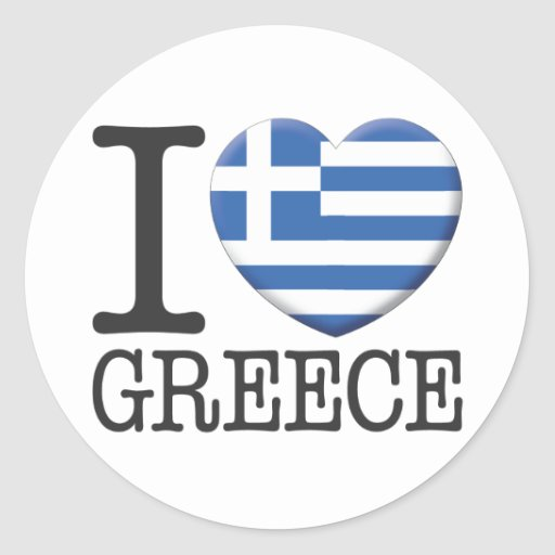La Grèce Autocollants Ronds