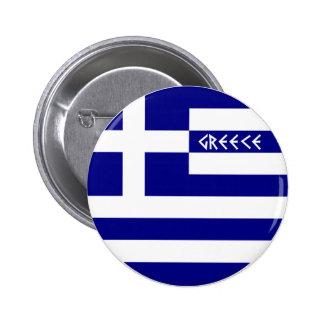 La Grèce Badge Rond 5 Cm