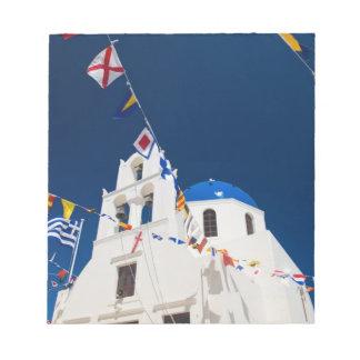 La Grèce et l'île grecque de la ville de Santorini Blocs Notes
