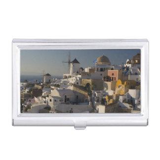 La Grèce et l'île grecque de la ville de Santorini Porte-cartes De Visite