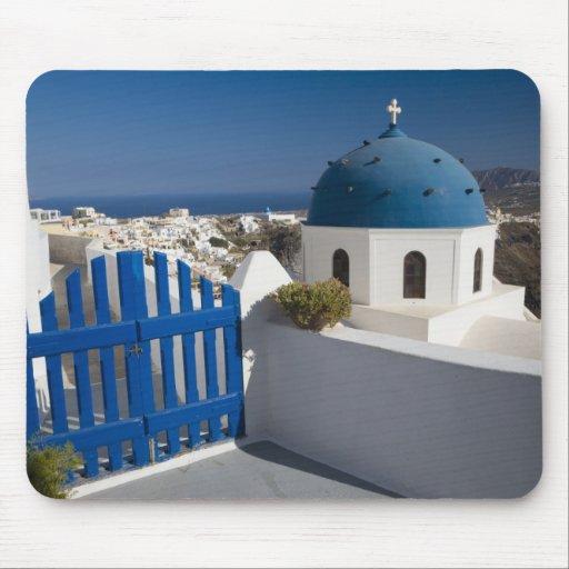 La Grèce et l'île grecque de Santorini de Tapis De Souris