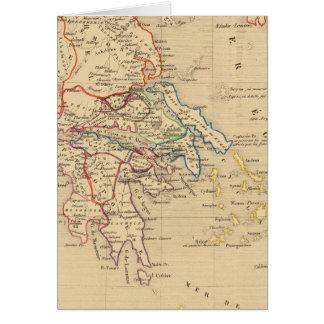 La Grece et partie de l'Asie Mineure, poids du Carte De Vœux
