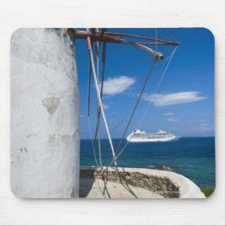 La Grèce, îles de Cyclades, Mykonos, vieux moulin  Tapis De Souris