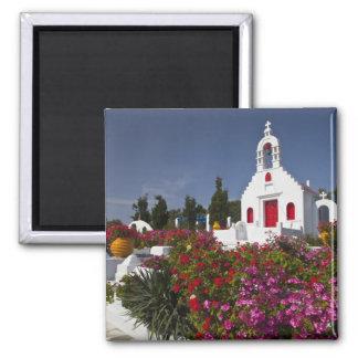La Grèce, Mykonos, petite chapelle mignonne dans Magnet Carré