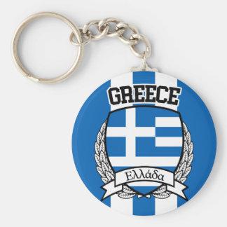 La Grèce Porte-clé Rond