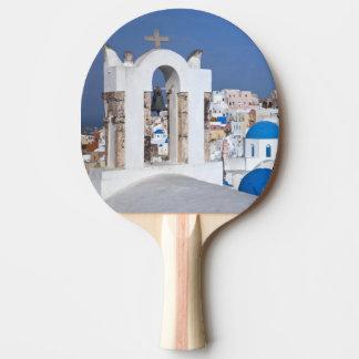 La Grèce, Santorini. Tour de Bell et dômes bleus Raquette Tennis De Table