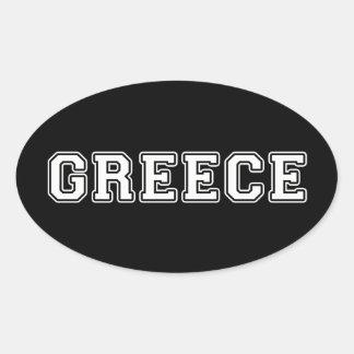 La Grèce Sticker Ovale