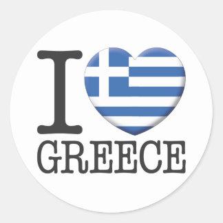 La Grèce Sticker Rond