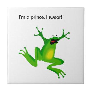 La grenouille qui le pense est un prince Cartoon Petit Carreau Carré