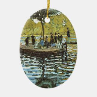 La Grenouillere - Claude Monet Ornement Ovale En Céramique