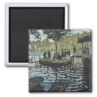 La Grenouillere de Claude Monet   Magnet Carré