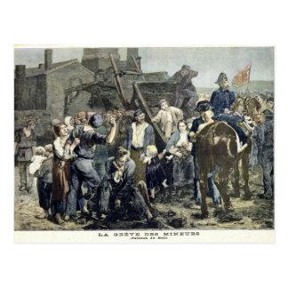 La grève du mineur dans Carmaux Carte Postale