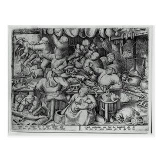 La grosse cuisine par Pieter Bruegel l'aîné Carte Postale