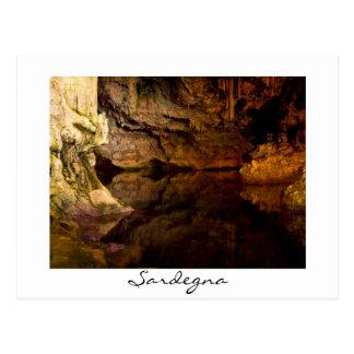 La grotte de Neptune, carte postale de blanc de la