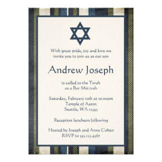 La grunge barre l invitation de Mitzvah de barre