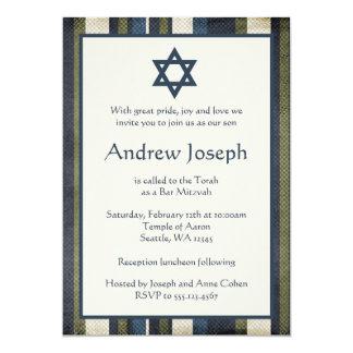 La grunge barre l'invitation de Mitzvah de barre Carton D'invitation 12,7 Cm X 17,78 Cm