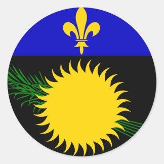 La Guadeloupe Sticker Rond