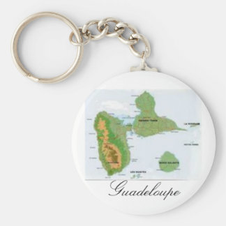 La Guadeloupe Porte-clé Rond