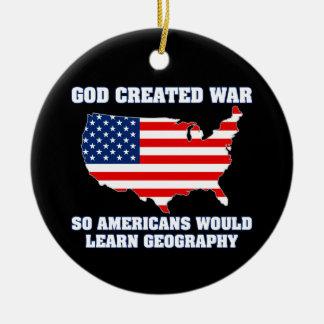 La guerre créée par Dieu ainsi les Américains Ornements