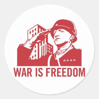 La guerre est autocollant de liberté