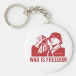 La guerre est liberté Keychain Porte-clefs
