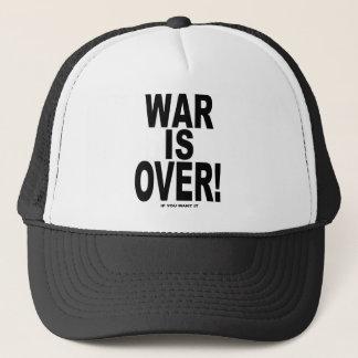 La guerre est terminée si vous la voulez casquette