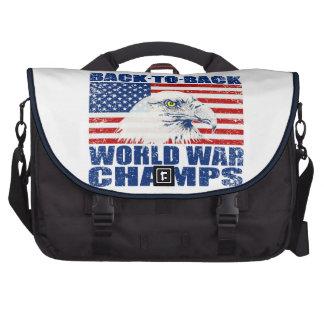 La guerre mondiale portée vintage mâche Eagle et l Sac Pour Ordinateur Portable