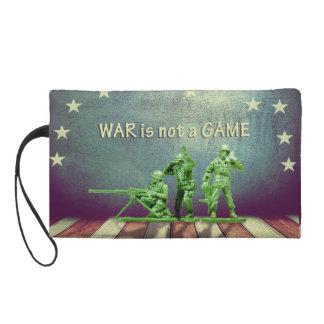 La guerre n'est pas un bracelet de jeu sacs à main avec dragonne