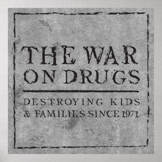 La guerre sur des drogues - enfants et familles de poster