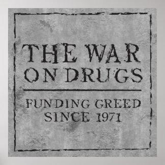 La guerre sur des drogues finançant l'avidité depu affiche