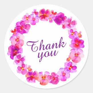 La guirlande rose vous remercient des autocollants