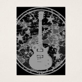 La guitare affligée tient le premier rôle cartes de visite