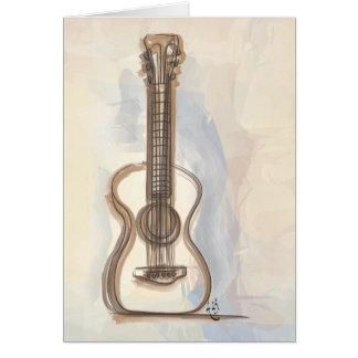 La guitare d'Annie Cartes De Vœux