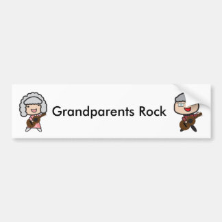 La guitare de roche de grands-parents autocollant de voiture