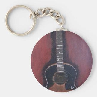 La guitare de Ryan Porte-clé Rond