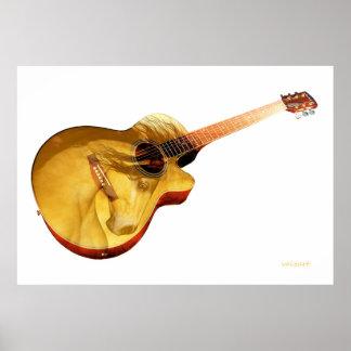 La guitare de thr est une dame poster