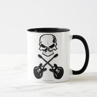 La guitare désosse la tasse de café