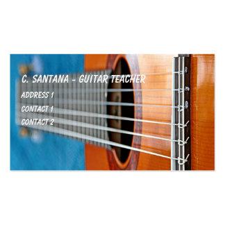 La guitare ficelle le plan rapproché carte de visite standard