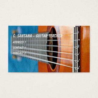 La guitare ficelle le plan rapproché cartes de visite