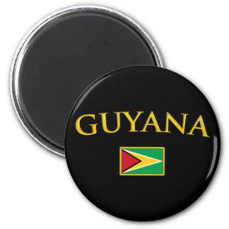 La Guyane d'or Magnet Rond 8 Cm