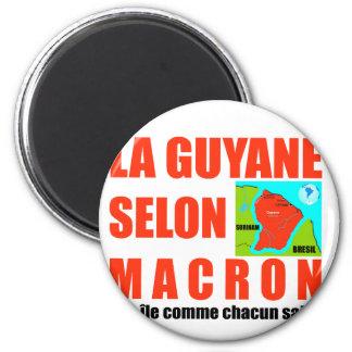 La Guyane selon Macron est une île Aimant