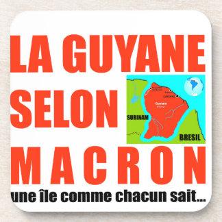 La Guyane selon Macron est une île Dessous-de-verre