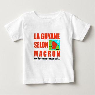La Guyane selon Macron est une île T-shirt Pour Bébé