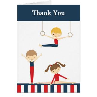 La gymnastique badine le carte de remerciements