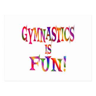 La gymnastique est amusement carte postale