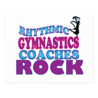 La gymnastique rythmique donne des leçons carte postale
