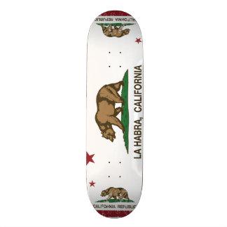 La Habra de drapeau d'état de la Californie Skateoard Personnalisé