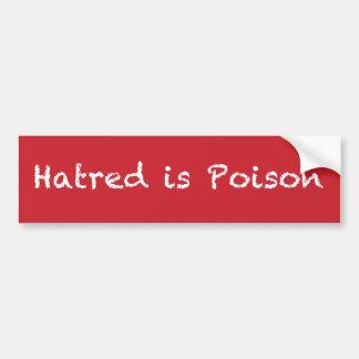 La haine est bumpersticker de craie-style de autocollant de voiture