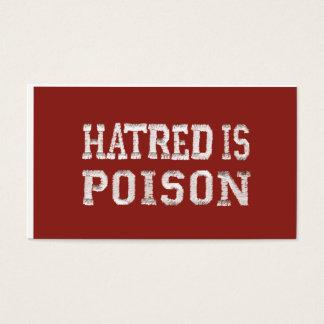 La haine est les cartes de visite de police piqués