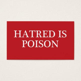 La haine est les cartes de visite réguliers de